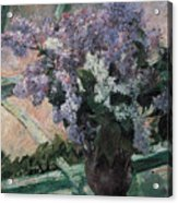 Lilacs In A Window Acrylic Print