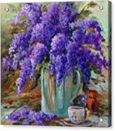 Lilacs Still Life Acrylic Print
