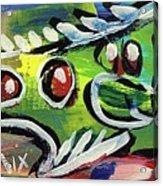 Lil'funky Folk Fish Number Thirteen Acrylic Print by Robert Wolverton Jr