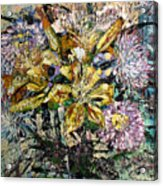Lilies And Chrysanthemums.1999 Acrylic Print