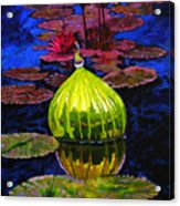 Lilies And Glass Reflections Acrylic Print