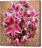 Lilies Gathered On Tile Acrylic Print