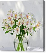 Lilies In A Vase 001 Acrylic Print