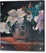 Lilies In Delft Acrylic Print