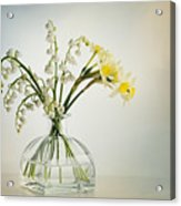 Lilies Of The Valley In A Glass Vase Acrylic Print
