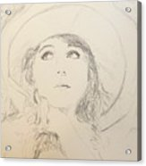 Lillian In Hat Acrylic Print