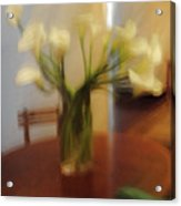 Lillies On The Table Acrylic Print