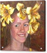Lily Girl Acrylic Print