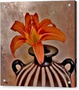 Lily In A Peruvian Vase Acrylic Print