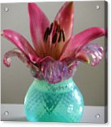 Lily In Antique Vase Acrylic Print