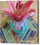 Lily On A Painted Table Too Acrylic Print