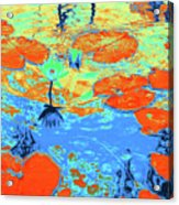 Lily Pads And Koi 10 Acrylic Print