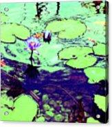 Lily Pads And Koi 2 Acrylic Print