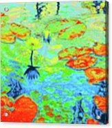 Lily Pads And Koi 20 Acrylic Print