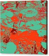 Lily Pads And Koi 35 Acrylic Print
