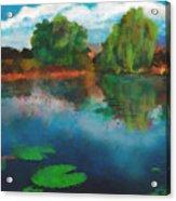 Lily Pond A La Torrie Acrylic Print