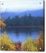 Lily Pond Autumn Kancamagus Highway Acrylic Print