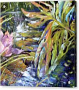 Lily Pond Light Dance Acrylic Print