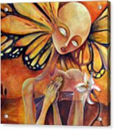 Lily Prayer Acrylic Print