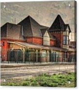 Lima Ohio Train Station Acrylic Print by Pamela Baker