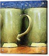 Lime Green Cups Acrylic Print