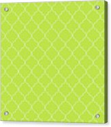 Lime Punch Quatrefoil Acrylic Print
