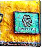 Limerick Pub Acrylic Print