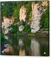 Limestone Bluffs Along Upper Iowa Acrylic Print