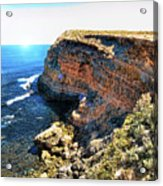Limestone Cliff Acrylic Print