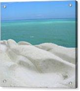 Limestone Cliffs And Sea Acrylic Print