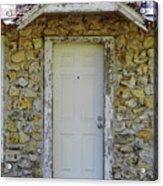 Limestone House Door Acrylic Print