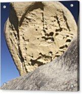Limestone Rock Formation Acrylic Print