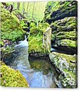 Limestone Waters Acrylic Print