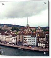 Limmatquai In Zurich Switzerland Acrylic Print