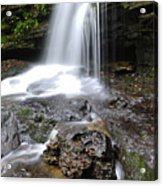 Lin Camp Branch Waterfall Monongahela National Forest Acrylic Print