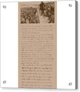 Lincoln And The Gettysburg Address Acrylic Print