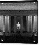 Lincoln At Night Bw Acrylic Print