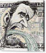 Lincoln Barfs Acrylic Print