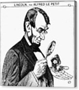 Lincoln Cartoon, 1873 Acrylic Print