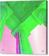 Lincoln Column Green Acrylic Print