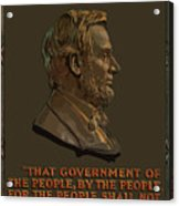 Lincoln Gettysburg Address Quote Acrylic Print