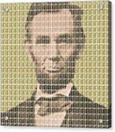 Lincoln - Gold Acrylic Print