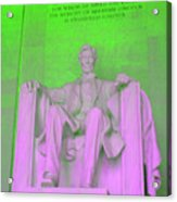 Lincoln In Green Acrylic Print