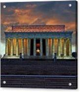 Lincoln Memorial At Dusk Acrylic Print