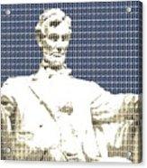 Lincoln Memorial - Dark Blue Acrylic Print