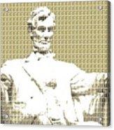 Lincoln Memorial - Gold Acrylic Print