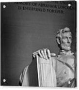 Lincoln Memorial In Washington Dc President Acrylic Print