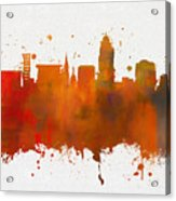 Lincoln Nebraska Colorful Skyline Acrylic Print