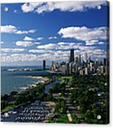 Lincoln Park And Diversey Harbor Acrylic Print