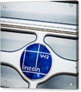 Lincoln V12 Emblem Acrylic Print